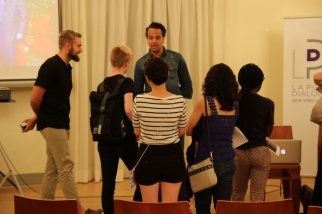 Students with Randolph Thompson.