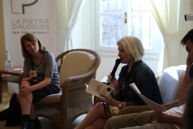 From left: Elisa Biagini, Melinda Smith. Biagini is a poet and NYU Florence professor. Smith is an Australian poet.