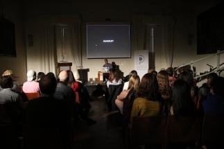 Audience at dialogue.